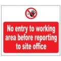Prohibition Safety Signs No Entry To Working Area Sign Plastic Pro29