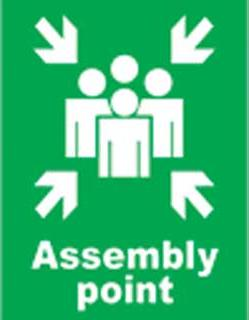 Emergency Notice Signs Emergency Assembly Point Sign Aluminium Eme31