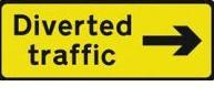 Signage Rectangular Plates Diverted Traffic Arrow (right) Tra95
