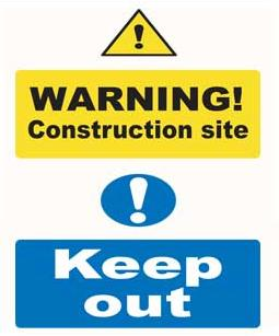 Site Notice Safety Signs Warning Construction Site Sign Plastic Sit5