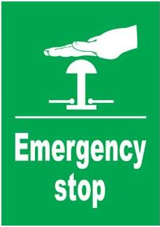 Emergency Notice Signs Emergency Stop Sign Plastic Eme5