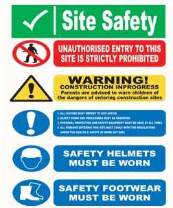 Site Notice Safety Signs Site Safety Sign Aluminium Sit9
