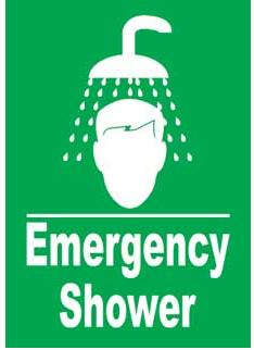 Emergency Notice Signs Emergency Shower Sign Plastic Eme9