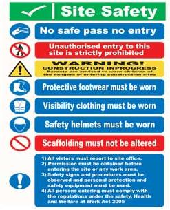 Site Notice Safety Signs Site Safety Sign Aluminium Sit11