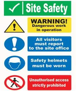 Site Notice Safety Signs Site Safety Sign Aluminium Sit14
