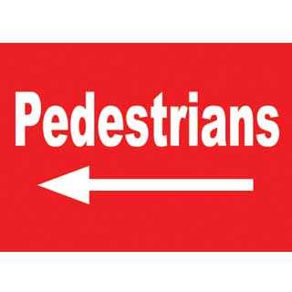 General Safety Signs Pedestrians Left Sign Gen5