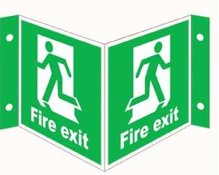 Emergency Notice Signs Emergency Fire Exit Sign Aluminium Eme18