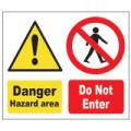 Prohibition Safety Signs Do Not Enter Sign Plastic Pro19