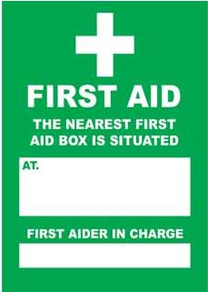 Emergency Notice Signs Emergency First Aid Box Sign Plastic Eme23