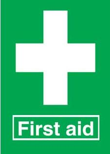 Emergency Notice Signs Emergency First Aid Sign Plastic Eme26