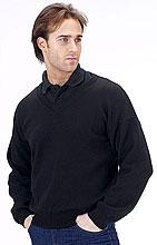 Acrylic Sweater V/n Black L Bee