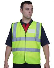 Sat Yellow Id Vest Lge Bee