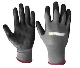 Nitrile Pu Mix Dotted Glove L Bee