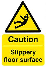 Caution Slippery Floor Surface Bee