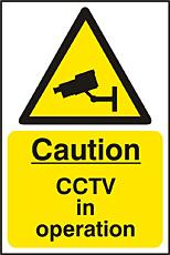 Warning Cctv Sav (pk5) Bee