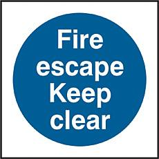 Fire Escape Keep Clear Sav Pk5 Bee