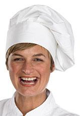 Chefs Tall Hat W One Size Velc Bee