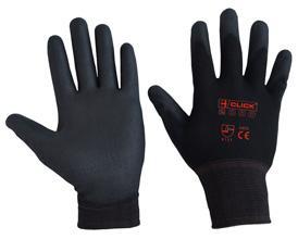 Pu Coated Glove Black Large Bee