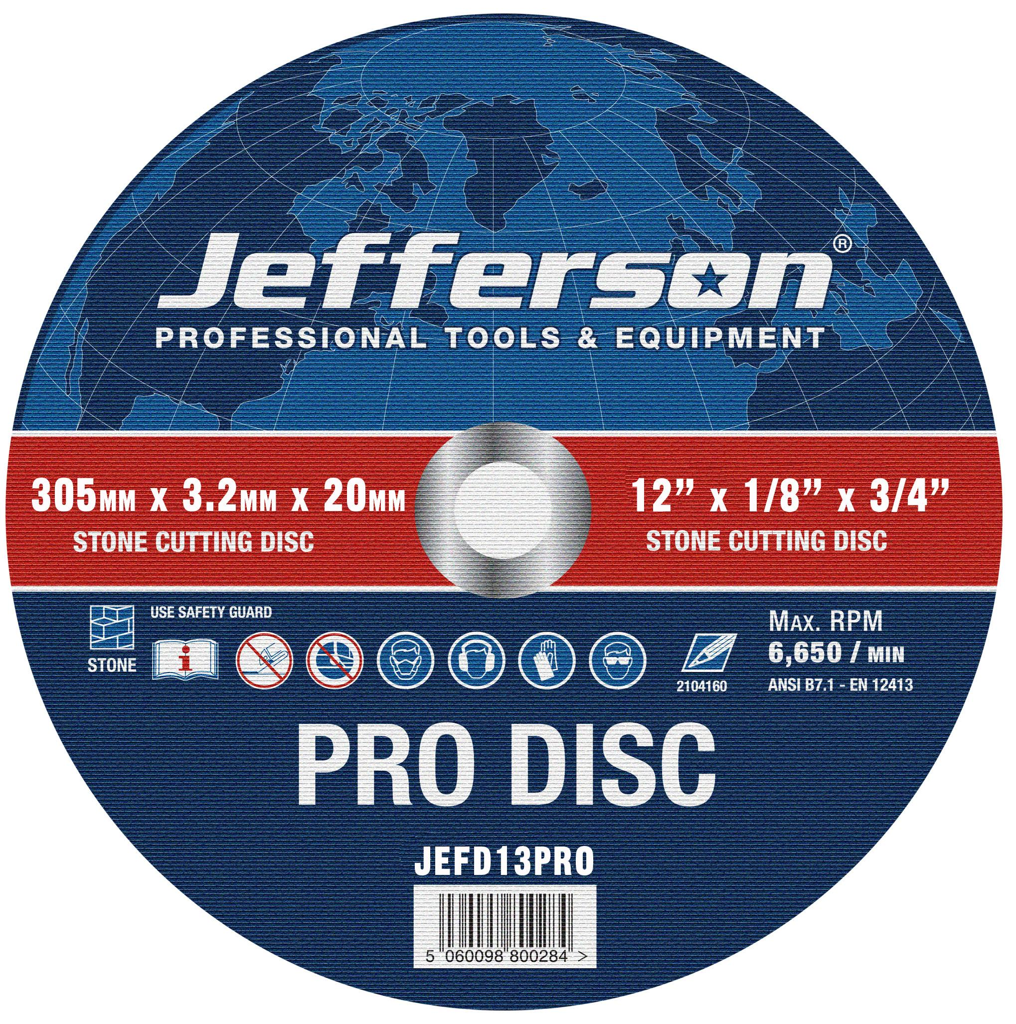 "12"" Stone Cutting Abrasive Disc 20mm Bore Jefd13pro"