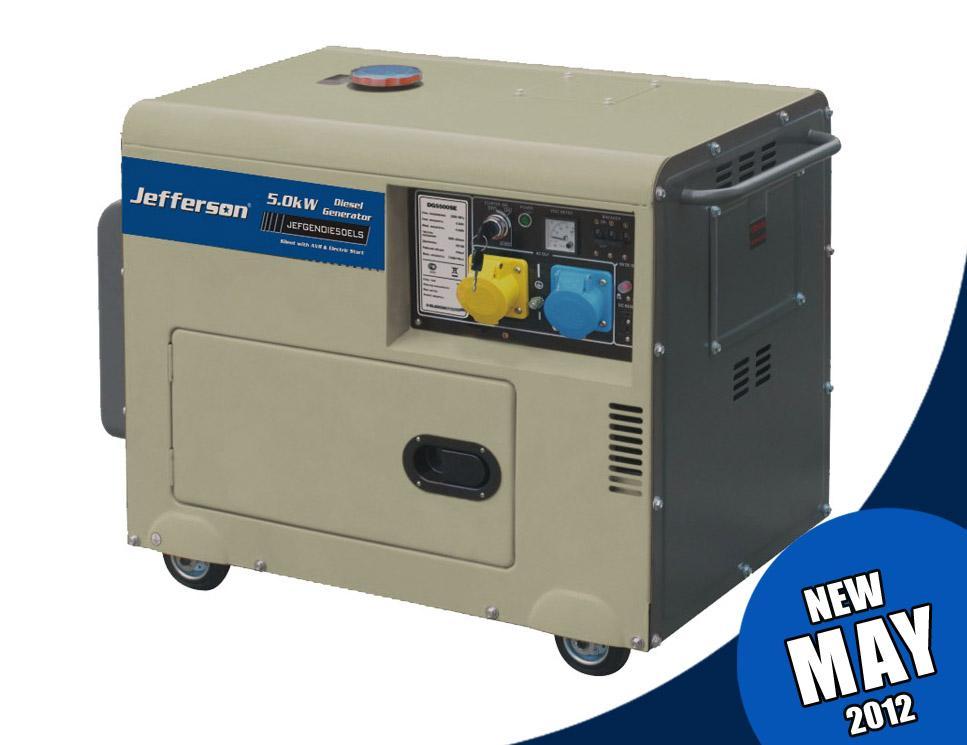 5.0kw Diesel Silent Generator Jefgendie50els