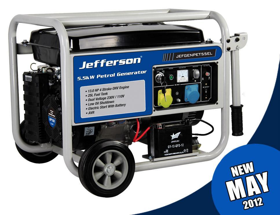 5.5kw Petrol Generator Electric Start Jefgenpet55el
