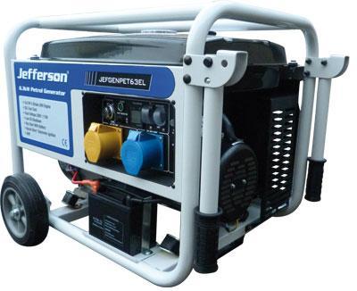 6.3kw Petrol Generator Electric Start New Jefgenpet63el