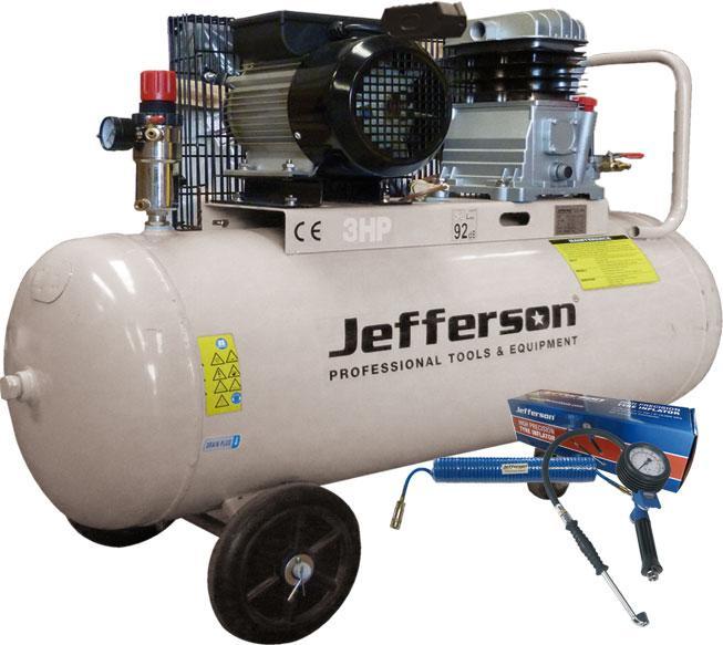 100 Litre 3hp Compressor 230v Jefld3008/100l
