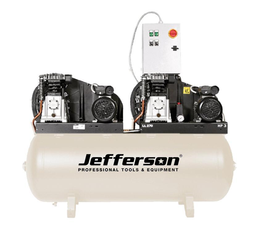 270 Litre Tandem Compressor 230v Jefldt3.0/270l