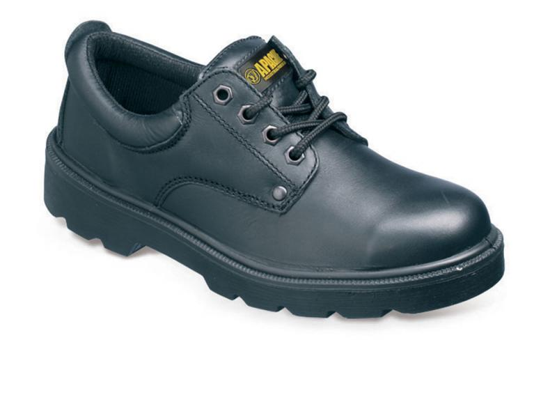 Ap306 Size 3 Black 4 Eyelet Safety Shoe (sterling Safety)