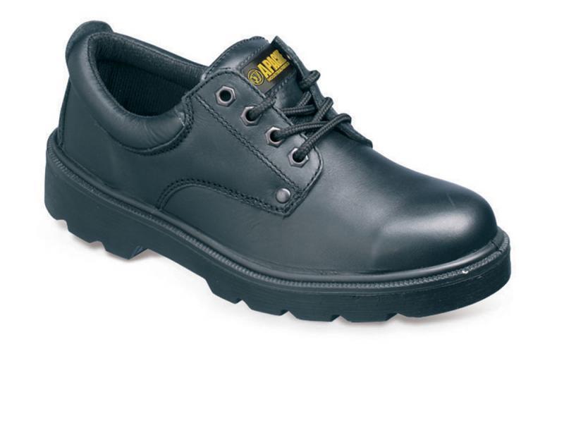 Ap306 Size 4 Black 4 Eyelet Safety Shoe (sterling Safety)