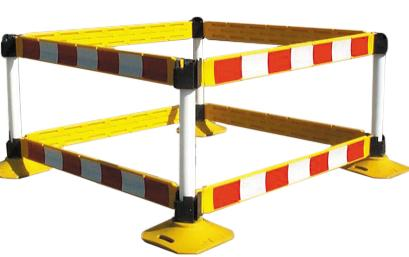 Road Barrier Systems Pvc Barrier Boards 1.25m Bar24