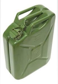 Fuel & Water Containers Green Army Style Jerrycan 20 Litre C288