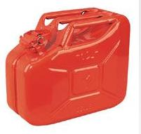 Fuel & Water Containers Red Steel Jerrycan 10 Litre C286