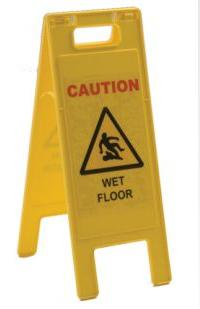 Spill Safety Caution Wet Floor Sign Plastic A-frame C463