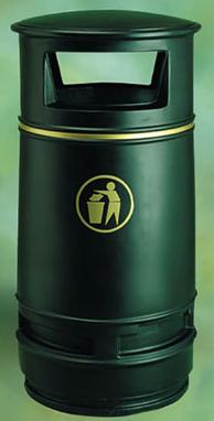 Litter Bins/lockers Copperfield Litter Bin With Ash Tray Cop2