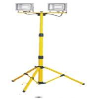 Eb-l12069 Twin Head Led Site Light 110v With Tripod & Double 20w Floodlight