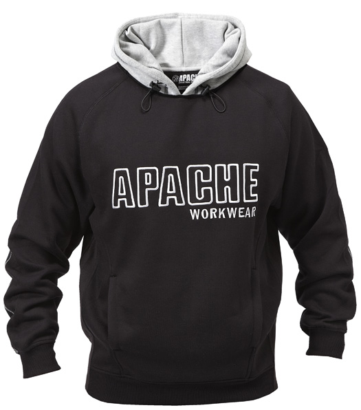 Aphoodsweatblk Size Xxl Black/grey Hooded Sweat Shirt (sterling Safety)