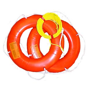 "Flotation Wear / Adult Vests 24"" Orange Ring C/w 50"