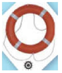 Life Buoy Marine Solas Approved 710mm Ch Ec/med 2.5kg C/w Reflective And Rope Model:rs555-i ;