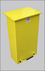 Litter Bins/lockers Large Fire Retardant Pedal Bin Para013