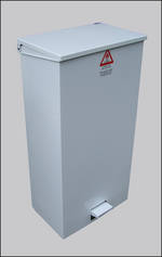 Litter Bins/lockers Eco Large Fire Retardant Pedal Bin Para016