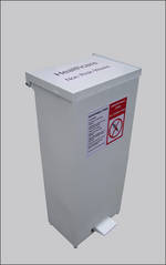 Litter Bins/lockers Eco Medium Fire Retardant Pedal Bin Para017