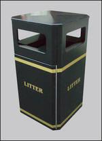 Freestanding Litter Bins Heavy Duty 120l Street Bin Para022