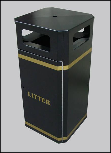Freestanding Litter Bins Heavy Duty 80-100l Street Bin Para023