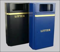 Freestanding Litter Bins Heavy Duty Slimline 70l Street Bin Para025