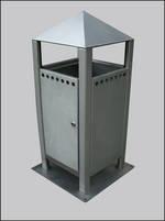 Freestanding Litter Bins Designer Pyramid Top Street Bin Para029