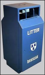 Freestanding Litter Bins Council Street Bin Para034