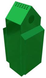 Freestanding Litter Bins Council Apex Top Street Bin Para035