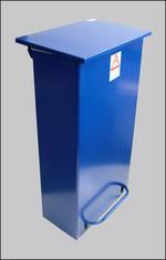 Fire Retardant Pedal Bin Recycling Range Medium Pedal Bin White,yellow,colours,coloured Lid Para065