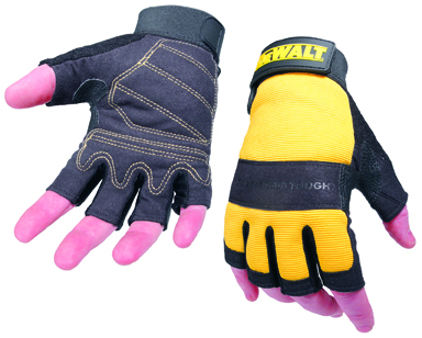 Performance 4 Size L Yellow/black Fingerless Glove (sterling Safety)